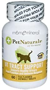 UT Tract Support for Cats, 60 Fish Flavored Chewableable Tablets by Pet Naturals of Vermont