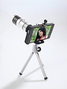 ArktisPRO Profi iPhone 5 5s Zoom-Objektiv 12 x inkl. Stativ und Transporttasche für faszinierende iPhone 5 5s Fotos im Zoom-Bereich