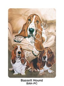 Best Friends Playing Cards, by Ruth Maystead - Basset Hound