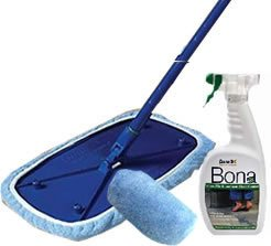 Bona Laminate FLOOR WIPE Kit, 15x8 Base, Cover, Cleaner