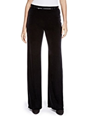 Per Una Roma Wide Leg Velour Trousers with Belt