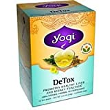 Yogi Tea DeTox Organic Dandelion Body Purifier Caffeine Free - 16 Tea Bags, Pack of 4 (image may vary)