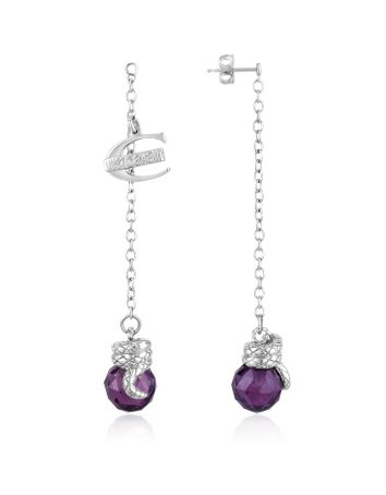 Just Cavalli Boule - Amethyst Cubic Zirconia Drop Earrings