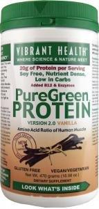 Vibrant Health Puregreen Protein Vanilla -- 16.58 Oz