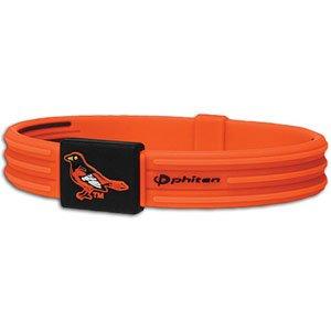 Orioles Phiten Titanium Bracelet X30 ( sz. L, Baltimore Orioles : Orioles )