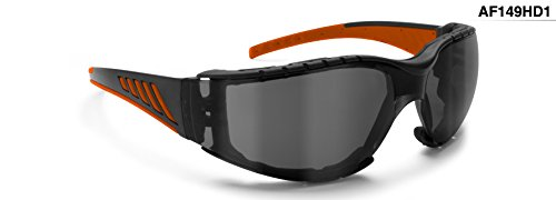 Occhiali per moto tiro e protezione - Lente infrangibile antiappannante - Interno removibile - Bertoni AF149HD1