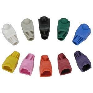 InstallerParts Color Boots for RJ45 Plug Blue 20pk