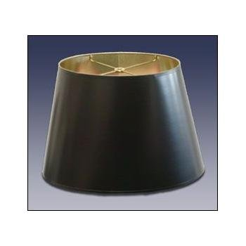 Standard Oval Black Parchment Lampshade with Gold Foil Lining - (7