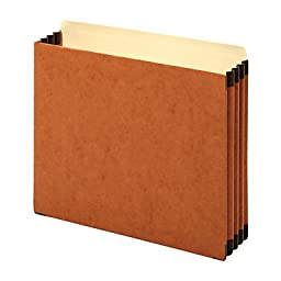 Extra-Thick Top Tab File Cabinet Pockets, 1 Pack Of 5 (3 1/2, Brown)