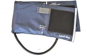 Cheap Sphygmomanometer Cuff & One-Tube Bladder, Black Nylon, Thigh, Latex (21-057-016)
