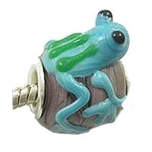 Believe Beads Lampwork Glass 'Freddie the Frog
