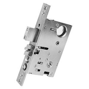 """Baldwin 6065.L Left Handed Emergency And Utility Room Mortise Lock With 2-3/4"""" B, Satin Brass And Brown"""