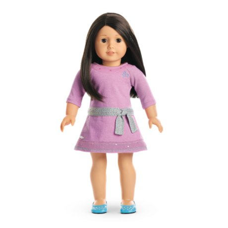 American Girl - Truly MeTM Doll: Light Skin, Black-Brown Hair, Brown Eyes DN25