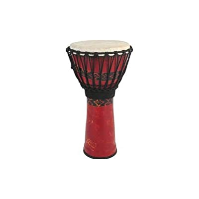 Toca Freestyle Rope Tuned 10-Inch Djembe - Bali Red Finish