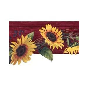 Scalloped Sunflowers Wallpaper Border