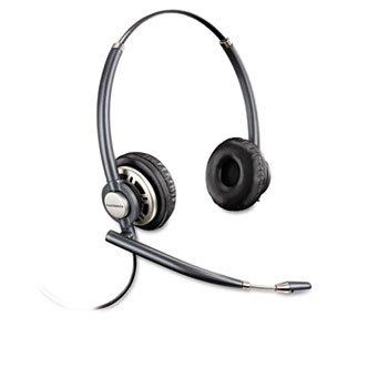 Plantronics Encorepro Binaural Over-The-Head Headset W/Noise Canceling Microphone