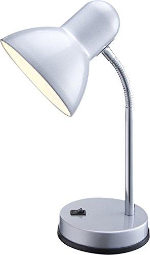 Globo-Tischleuchte-silber-chrom-Metall-Kunststoff-Schalter-1-x-60W-E27-230V-H-30-cm-2487