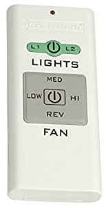 Craftmade TCS-REMOTE Fan and Light Handheld Control Only, No Receiver, White