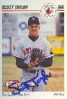 Scott Taylor Pawtucket Red Sox - Red Sox Affiliate 1992 Skybox Pre Rookie Autographed... by Hall of Fame Memorabilia