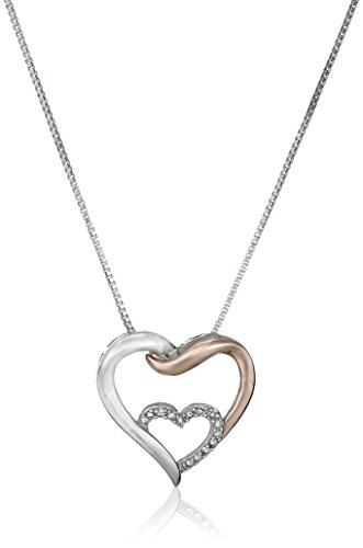 xpy-sterling-silver-and-14k-rose-gold-interlocking-heart-diamond-pendant-necklace-457cm