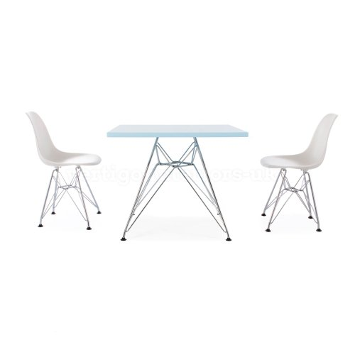 Stupendous Eames Style Kids Square Blue Table 2 Kids Green Dsr Chairs Machost Co Dining Chair Design Ideas Machostcouk