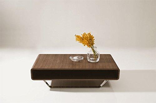B136A - Modern Walnut Matte Coffee Table Walnut