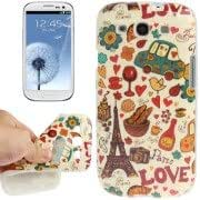 Eiffel Tower Pattern TPU Protective Case for Samsung Galaxy S III / i9300