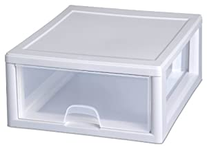 Amazon Com Sterilite 23018006 16 Quart Stacking Drawer