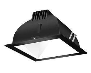 Rab Lighting Ndled4S-80Yy-W-B Led Trim Mod- 4 Square 27K 80-Degree Black Ring With White Cone