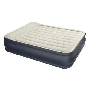 Intex Queen Size Deluxe Pillow Rest Air Bed with Built-in Electric Pump