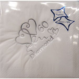 60th Diamond Wedding Anniversary Napkins