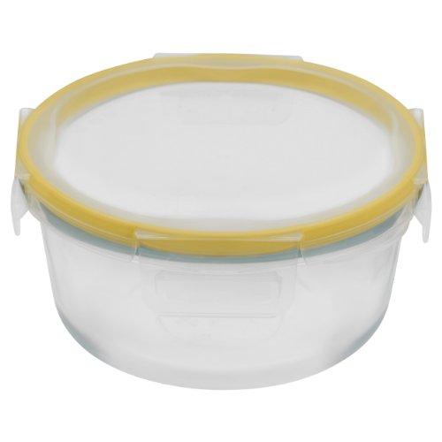 Snapware Total Solution 4-Cup Round Glass Food Storage Box, Medium