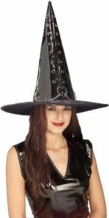 ADULT Vinyl Witch Costume Hat - Sexy or Evil (Or Both!) Witch Costume Fun