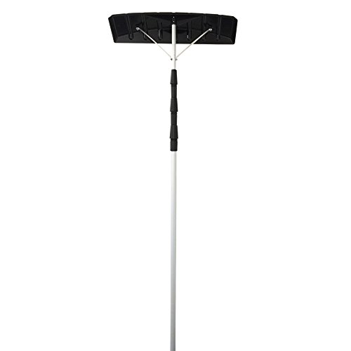 "Great Features Of The Euro Snow Roof Rake with Extendable Pole from 6'4"" up to 21 Feet"