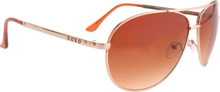 XOXO Women's Venezia Aviator Sunglasses,Gold