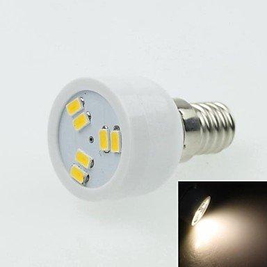 E14 2W 6Led 5730Smd 90-120Lm 3000-3500K Ac220-240V Spotlight Warm White - White Silver
