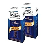 Boston Simplus One Bottles Multi-Action Solution for Rigid Gas Permeable Contact Lenses (Pack of 2) Two 3.5 oz Bottles