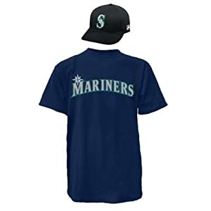 Seattle Mariners Combo MLB CAP & JERSEY Major League Baseball Licensed Replica... by Authentic Sports Shop