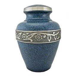 Elegant, High Quality Avalon Evening Blue Pet Memorial Urn - Small