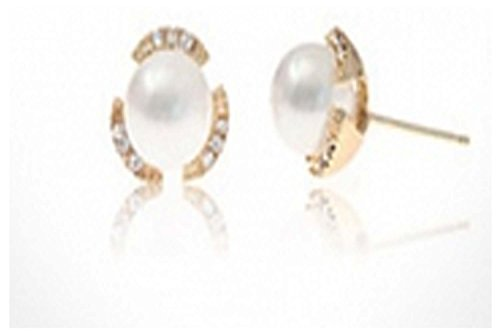 [Mr Ribbt The New Trend Lucky Clover Pearl Silver-planted Stud Earrings] (Treasure Troll Costumes)