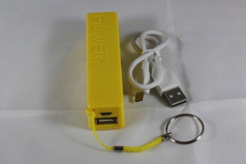 Powerbank mobiler Akku 2600mAh Ladegerät extern USB Smartphone iPhone PP-S15 (GELB)