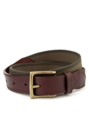 Square Buckle Stretch Web Belt