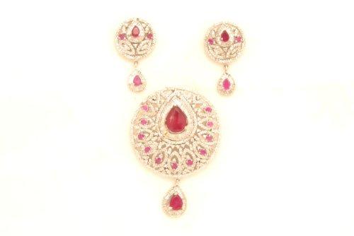 Fashion Balika Fashion Jewelry Gold-Plated Pendant Set For Women Gold-BFJER123 (Yellow)