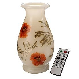 Consumer Sales Network FC100053 Remote Control Flameless LED Vase