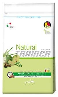 Trainer Natural - Natural Trainer Adult Maxi con Manzo, Riso e Ginseng per Cani - Sacco da 12,5 kg