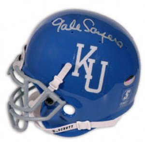 Gale Sayers signed Kansas Jayhawks Full Size Authentic Schutt Helmet by Athlon+Sports+Collectibles