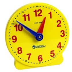 Toy / Game Learning Resources Big Time 12 Hour Student Clock Grasp Time Telling Skills Activity Guide & More