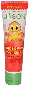 Kids Only! Toothpaste, Strawberry, 4.2 oz (119 g) by Jason Natural