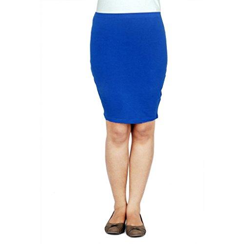 TeesTadka Women's Cotton Lycra Pencil Skirt - B01781LD6I