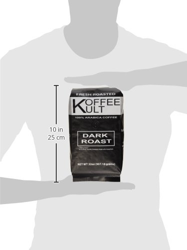 Koffee Kult Dark Roast Coffee Beans (2 Pounds Whole Bean) Highest Quality Delicious Organically Sourced Fair Trade - Whole Bean Coffee - Fresh Coffee Beans